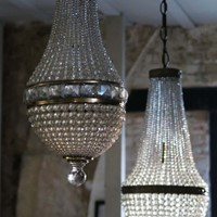 Two Bag Chandeliers, circa 1940, Italy