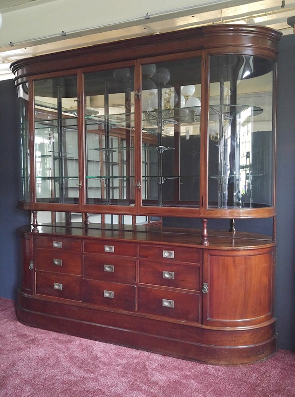 Antique glazed display cabinet with drawers-andy-thornton-atvmshe0342-main-637093447146466115.jpg