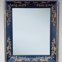 19th C Large Rectangular French Empire Wall Mirror