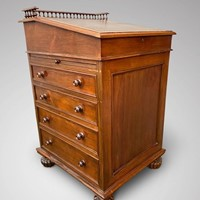 19th C Rosewood Davenport Desk