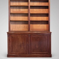 19th c mahogany library bookcase