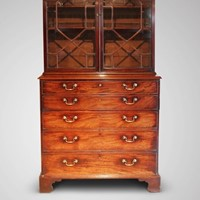 18th C Mahogany Secretaire Bookcase