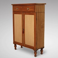 19th C Small Satinwood Cabinet