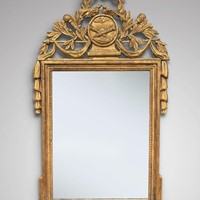 18th C French Gilt Wood Framed Wall Mirror