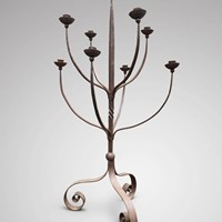 Large 20th C Wrought Iron Candelabra