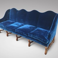 19th C 4 Seater Camel Back Sofa