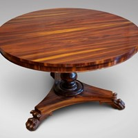 19th C Centre Table in Goncalo Alves