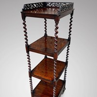 19th C rosewood Whatnot