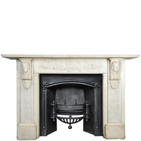 Antique Carved Marble Fireplace
