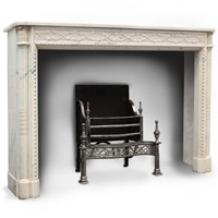 Antique statuary marble chimneypiece