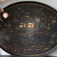 Antique Chinoiserie decortated tray