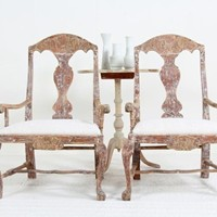 Pair of Swedish  Baroque Armchairs NOW ON SALE