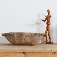 Large Primitive Carved Bowl with Great Patina