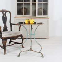 French  Arras Iron Table With New Mirrored Top