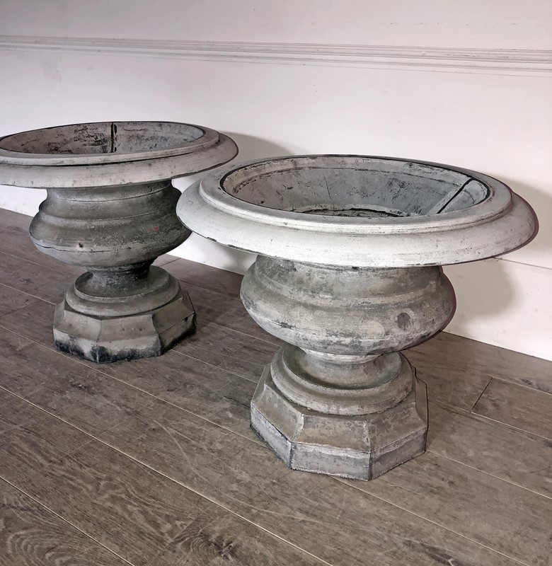 Beautiful Pair of early 19th French Zinc Urns -appley-hoare-19thcpairzincurns1-main-637428702044236114.jpg