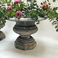 Beautiful Pair of early 19th French Zinc Urns