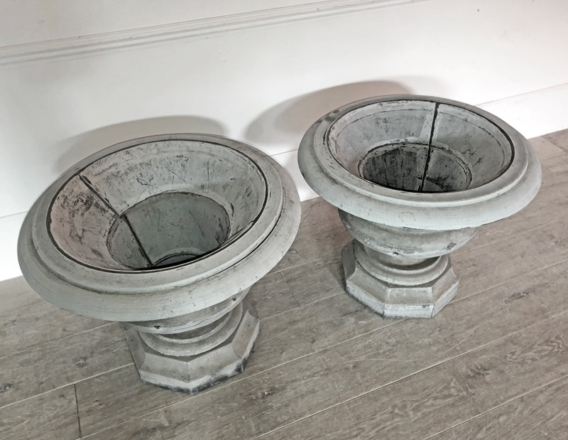 Beautiful Pair of early 19th French Zinc Urns -appley-hoare-19thcpairzincurns2-main-637428702465172012.jpg
