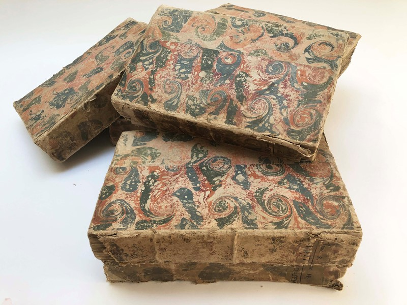 Rare and huge set of 7 French 18th c Books c 1765-appley-hoare-7large18thcbooks4-main-637325943178142763.jpg