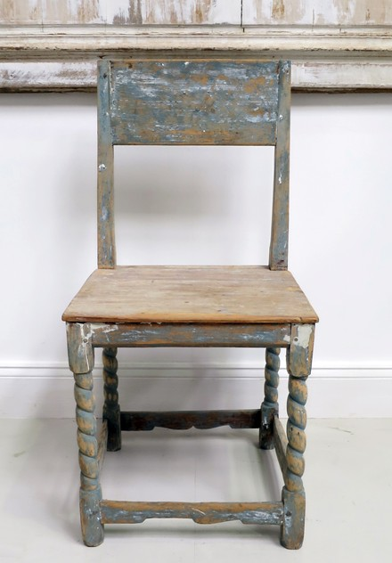 19th c French Pine Chair with original blue paint -appley-hoare-BluePineChair_main_636559639109709592.jpg