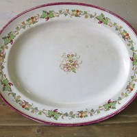 Large Servery Plate 19th c