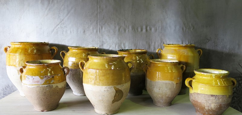 19th century French Confit Pots-appley-hoare-YellowConfitJars-main-636764258583367655.jpg
