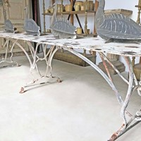 Long 19th century Iron Table from Arras - C 1890