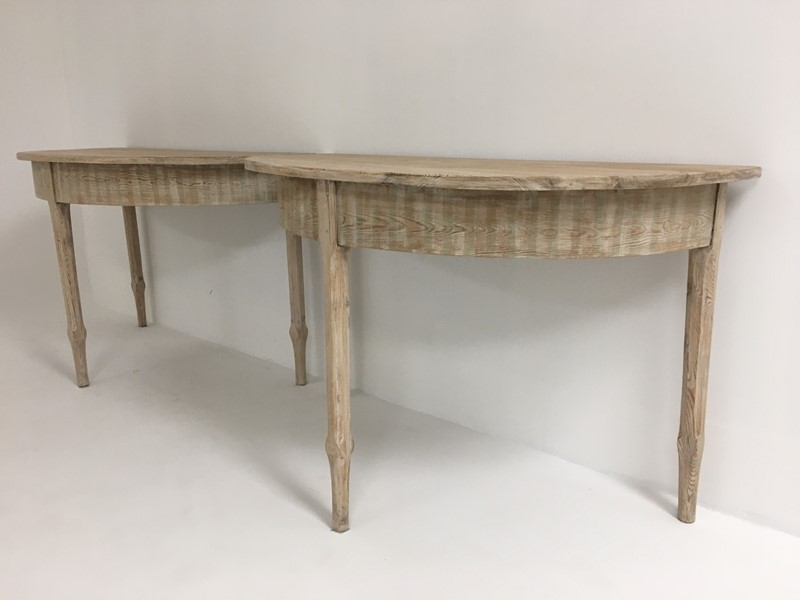 19th c Swedish Dining Table with extension - circa-appley-hoare-demiluneswithex3-main-637286852437567285.jpg