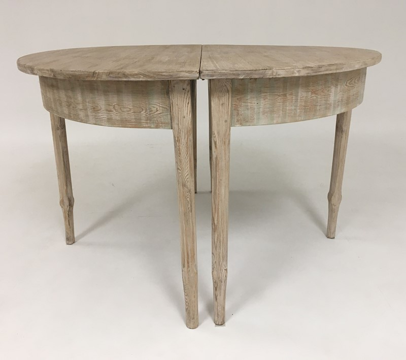 19th c Swedish Dining Table with extension - circa-appley-hoare-demiluneswithex6-main-637286849948352582.jpg