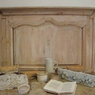 French 18th century Pine Panel