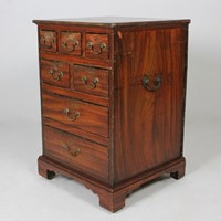 George III Original Painted Pine Chest Of Drawers