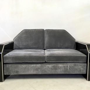 American acrylic and velvet sofa