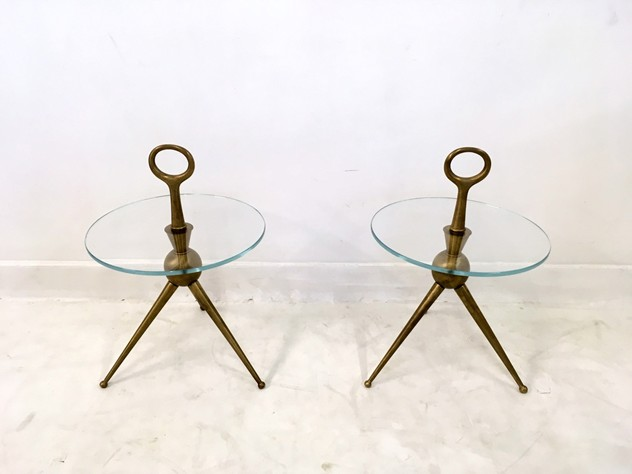 A pair of Italian brass and glass side tables-august-interiors-032_main_636179295652730070.JPG