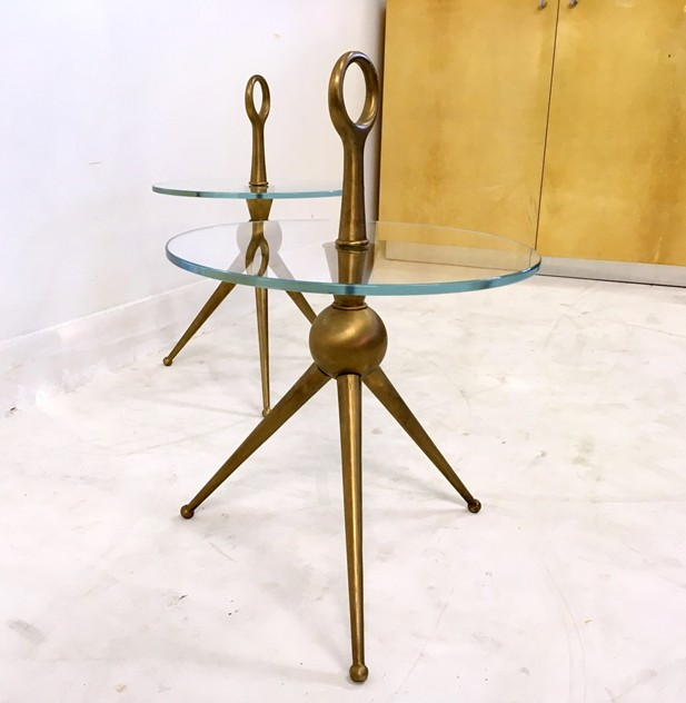 A pair of Italian brass and glass side tables-august-interiors-044_main_636179296880817174.JPG