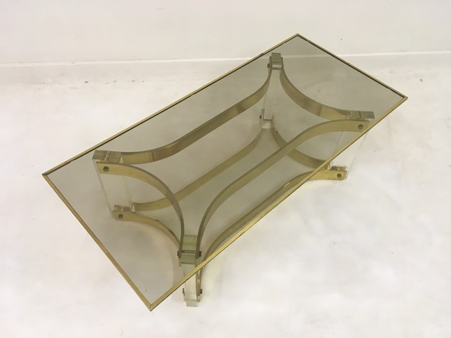 1970s acrylic and brass coffee table-august-interiors-049_main_636522198305694583.JPG