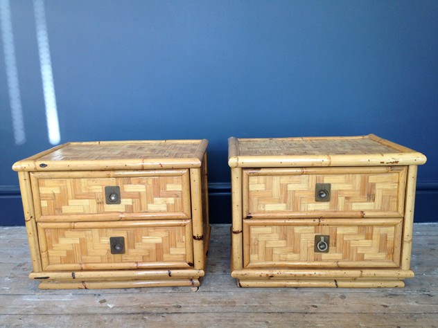 A pair of bamboo and brass bedside tables-august-interiors-113_main.JPG
