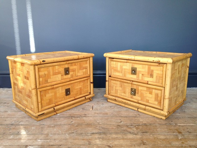 A pair of bamboo and brass bedside tables-august-interiors-117_main.JPG