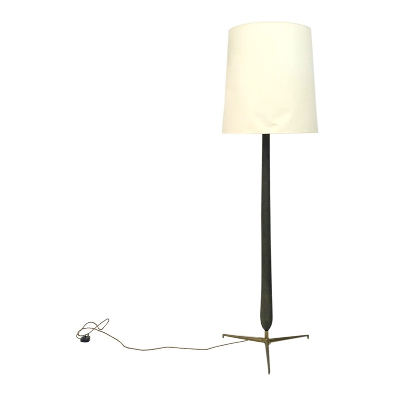 A 1950s Italian wood and brass floor lamp-august-interiors-1950s Italian floor lamp brass-main-636655355136202553.JPG