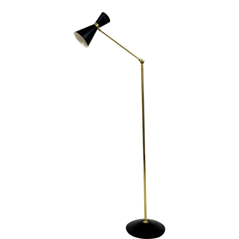 1950s style brass and black diabolo floor lamp-august-interiors-1950s italian floor lamp 1960s stilnovo-main-636644950046288347.JPG