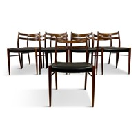 Large set of 1960s Danish Rosewood Dining chairs