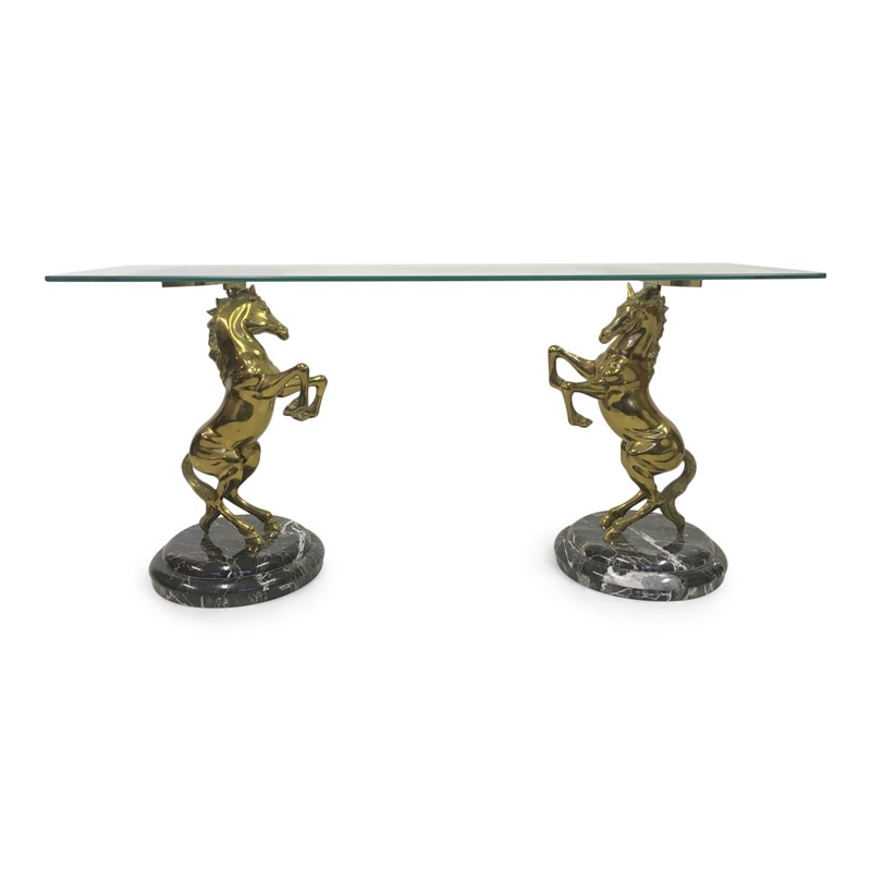 1970s Italian brass horse and marble console table-august-interiors-1970s Italian brass horse and marble console table maison jansen-main-636752114967312009.JPG