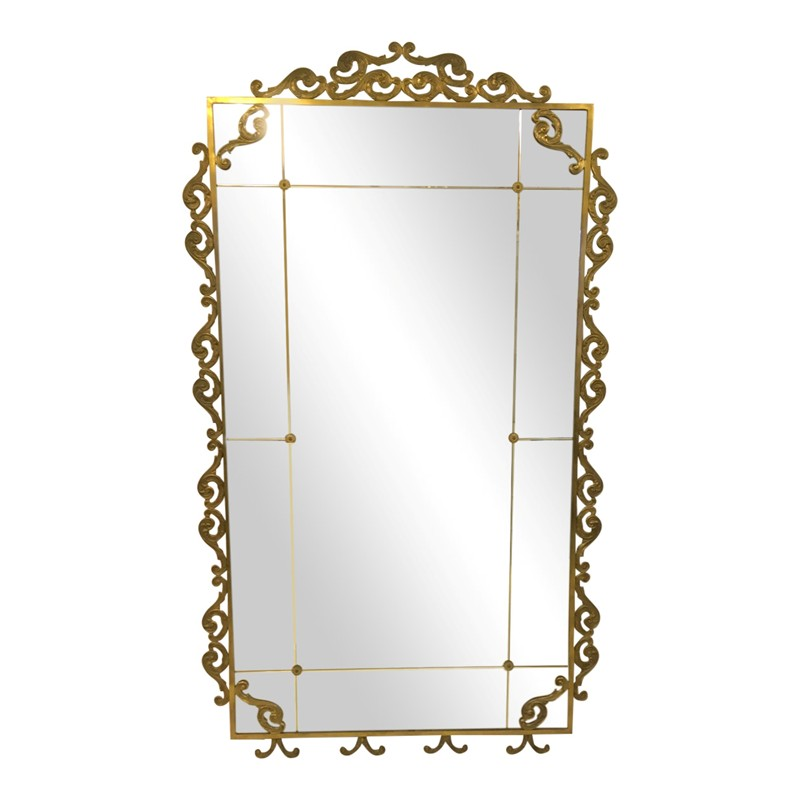 Large 1940s Italian mirror-august-interiors-Extra large mirror Italian 1940s 1950s brass-main-636652835160517813.JPG