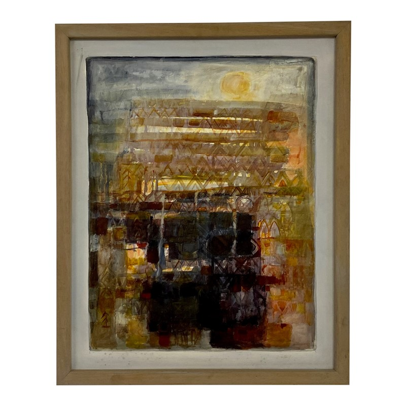 20th Century Danish Oil Painting on Canvas -august-interiors-abstract-danish-painting-retro-vintage-main-637245335300038668.jpg