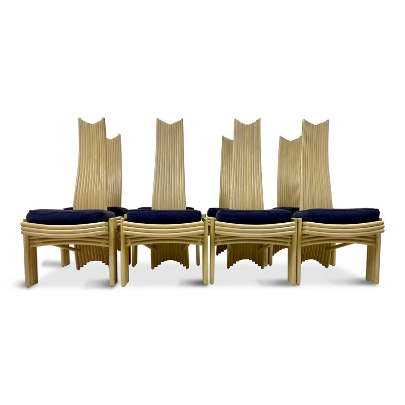 A Set of Eight 1980s Bamboo Dining Chairs-august-interiors-bamboo-chairs-1970s-main-637205126782095535.jpg
