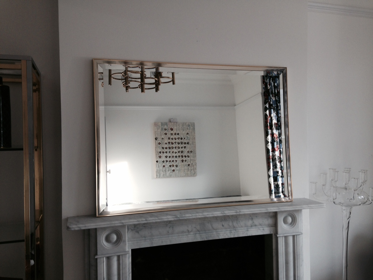 zoom brass and chrome framed mirror august interiors brass mirror1_main 1jpeg