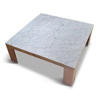 1970s White Marble Coffee Table