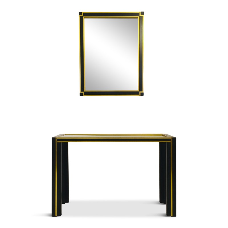 1970s Italian brass and black console table mirror-august-interiors-img-3592-1-main-637015705176409637.jpg