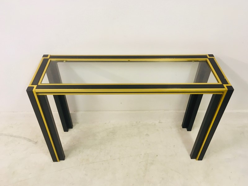 1970s Italian brass and black console table mirror-august-interiors-img-3594-main-637015705322379364.jpg