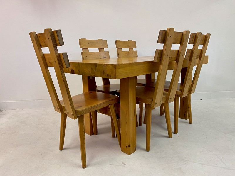 1970s Swedish Pine Dining Table and Chairs-august-interiors-img-7976-main-637245345159882717.jpeg