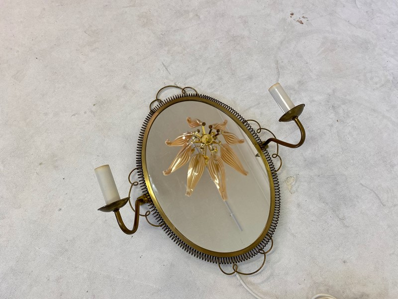 1950s Swedish Brass Mirror with sconces-august-interiors-img-8005-main-637245337725799463.jpeg