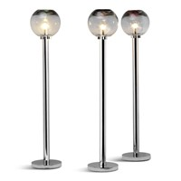 Set of Three Murrine Glass Floor Lamps